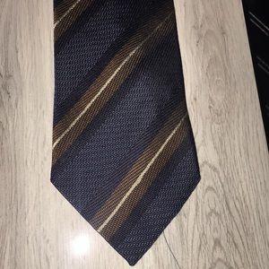 Ermenegildo Zenga- Blue Striped Tie NWOT